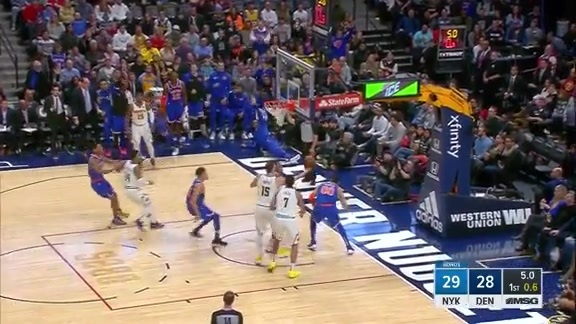Knicks Highlights: Dotson sets up Ntilikina for the corner three