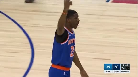 Knicks Highlights: Dotson sinks the three with the shot clock ticking down