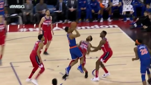 Knicks Highlights: Trier finishes through contact