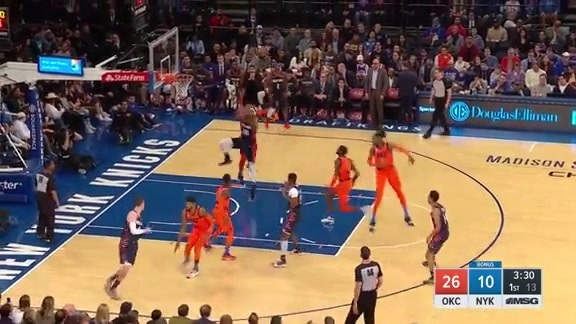 Knicks Highlights: Trier and Robinson connect for the oop