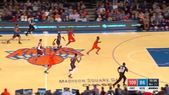 Game Highlights: Knicks 109, Thunder 127