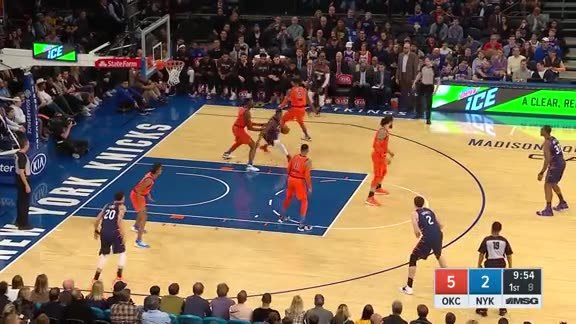 Knicks Highlights: Emmanuel Mudiay scores 14 points vs. Thunder