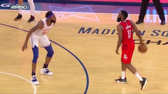 Knicks Highlights: Robinson denies Harden from three