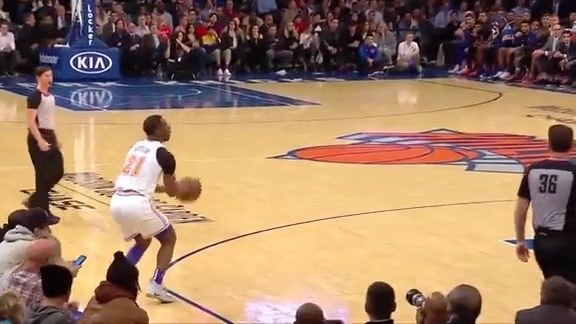 Knicks Highlights: Ntilikina feeds Dotson for the corner three