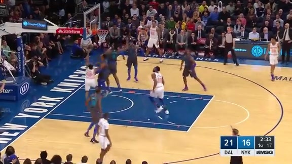 Knicks Highlights: Burke scores and draws the foul