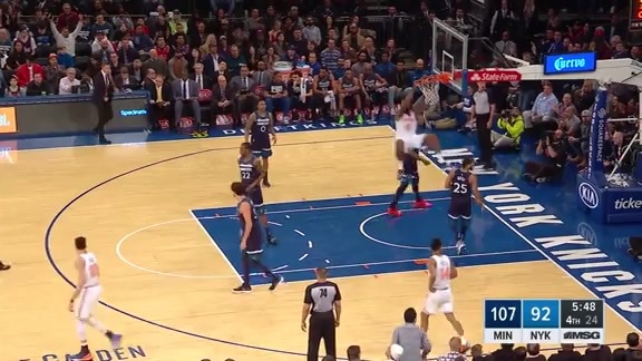 Knicks Highlights: Jordan hammers it home