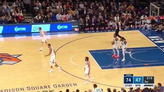 Knicks Highlights: Mudiay finds Jordan rolling to the rim