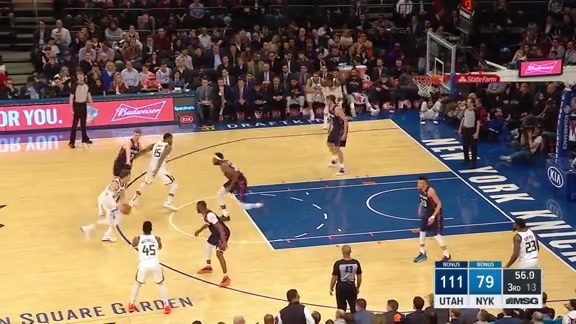 Knicks Highlights: Robinson with the huge block on Korver