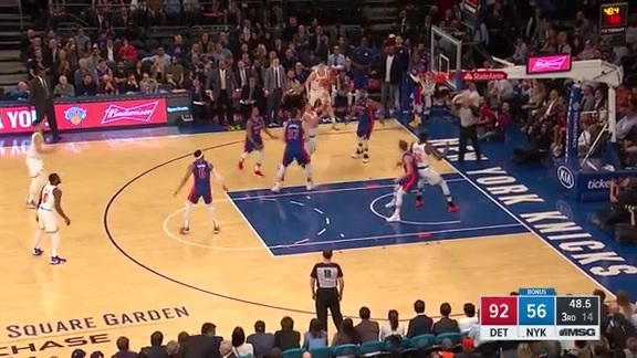 Knicks Highlights: Jenkins scores and draws the foul