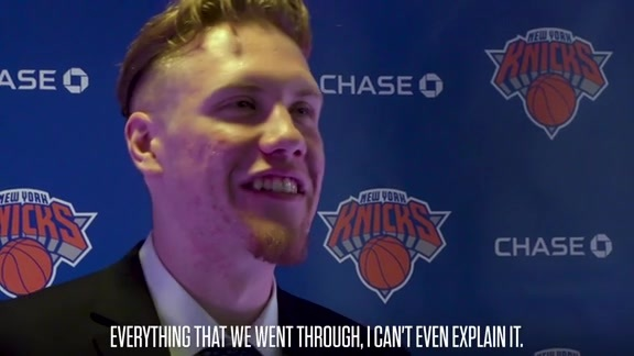Ignas Brazdeikis Reflects on the Moment He Became a Knick