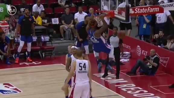 Mitchell Robinson With the Put-Back Slam | 2019 NBA Summer League