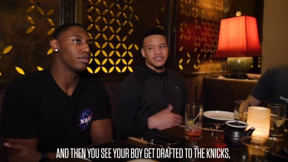Kevin Knox Dishes Advice to Rookies RJ Barrett & Ignas Brazdeikis