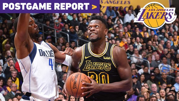 Postgame Report: Lakers Win 9th Straight at Home Behind Julius Randle Triple-Double