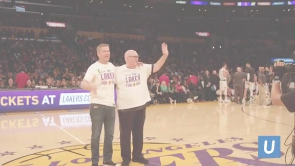 UCLA Health Laker For A Day - Brian and Dana Gilliam