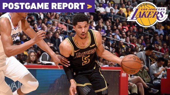 Postgame Report: Lakers Close Out 2017-18 Season With Win over Clippers