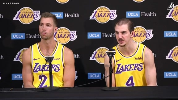 Lakers Media Day: Alex Caruso and Travis Wear (9/24/18)