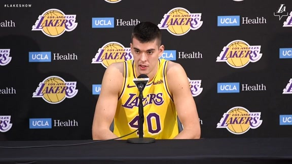 Lakers Media Day: Ivica Zubac (9/24/18)