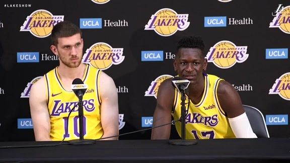 Lakers Media Day: Svi Mykhailiuk and Isaac Bonga (9/24/18)