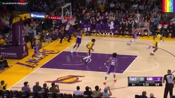 LeBron to Ingram on the Break