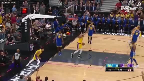 Hart to Kuzma from half-court