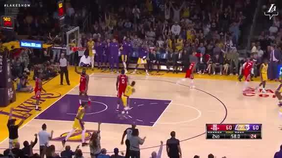 LeBron's No-Look to Hart