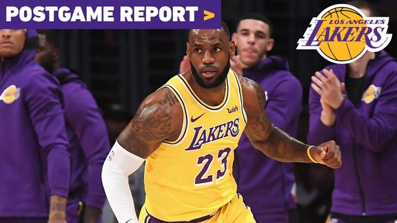Postgame Report: Seven Lakers Score in Double Figures in Home Opener