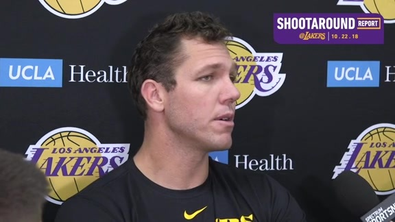 Shootaround Report: Luke Walton (10/22/18)