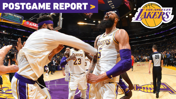 Postgame Report: Tyson Chandler's Block Seals Lakers 107-106 Win Over Atlanta