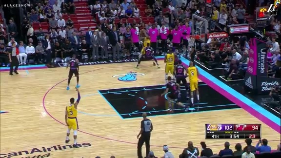 Lakers Highlights >> Highlights Lakers Vs Heat 11 18 18 Los Angeles Lakers