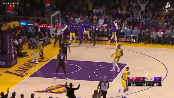 Kuzma Throws it Down