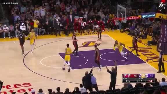 LeBron with One Hand