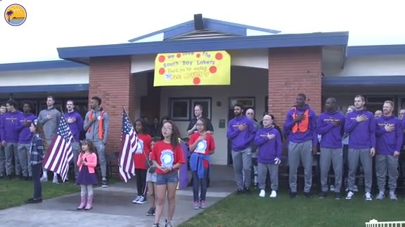 South Bay Lakers Adopt Edison Elementary School