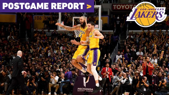 Postgame Report: Lonzo Ball's Game-High 19 Points Helps Lakers Fend Off Chicago