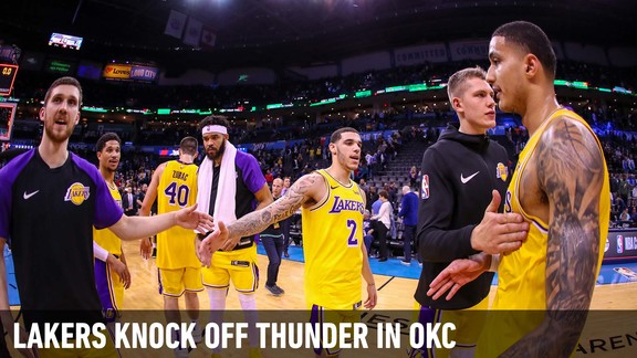 Behind the Scenes: Lakers Scrap Back To Win In OKC