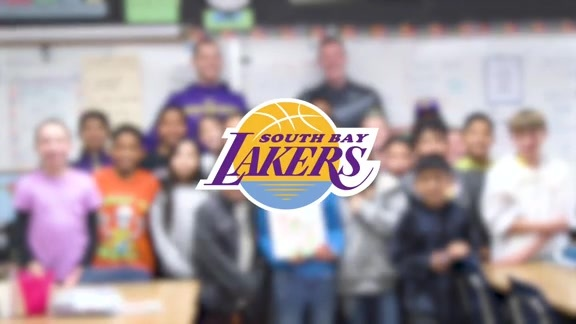 Lakers Team Up at Edison Elementary
