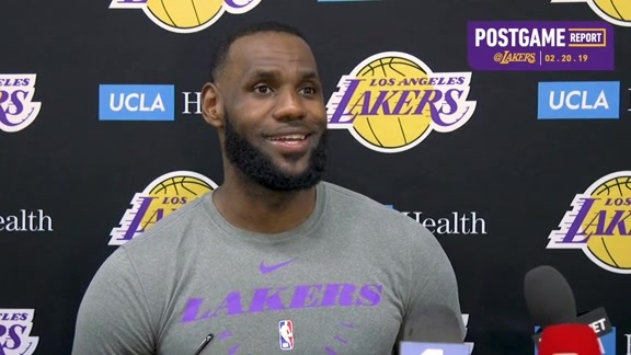 Practice Report: LeBron James (2/20/19)
