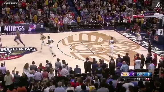 Lakers Score Off the Tip