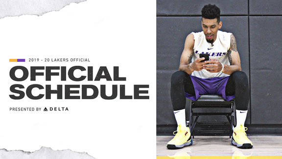 2019-20 Lakers Schedule Released