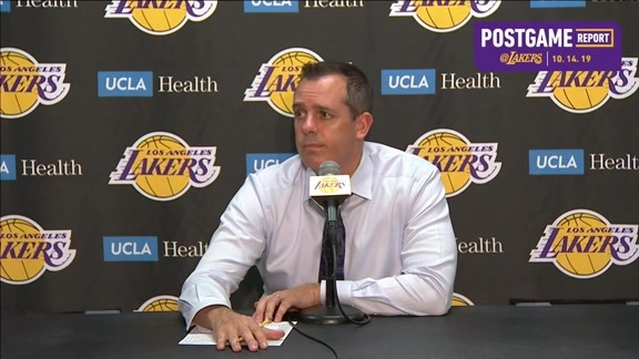 Lakers Postgame: Frank Vogel (10/14/19)