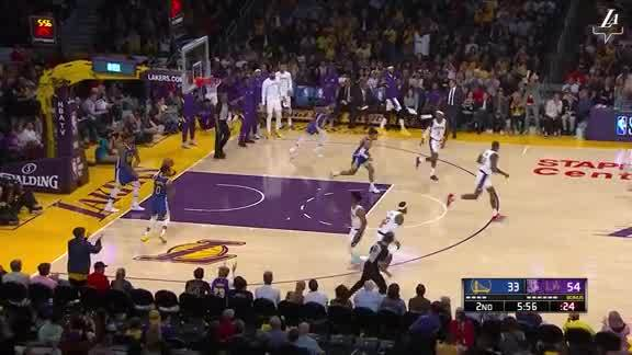 Lob by LeBron James to Dwight Howard