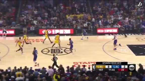 LeBron James' First Points of the Season