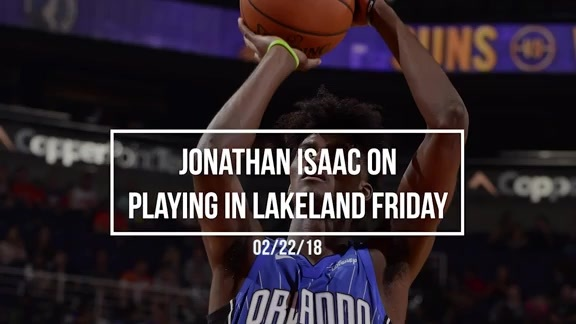 Isaac on Playing in Lakeland