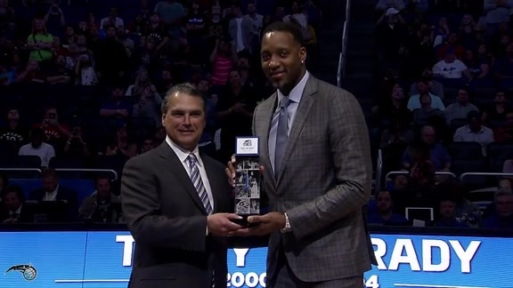 Tracy McGrady Honored On Court