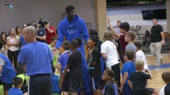 Mo Bamba Surprises Magic Youth Academy Basketball Campers