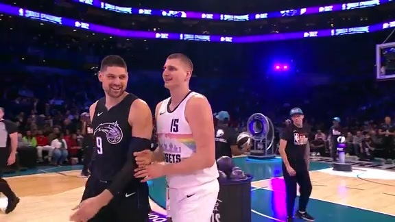 Vucevic in the All-Star Skills Challenge