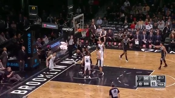 Highlights: Crabbe (10 Points in 4th) vs. Spurs