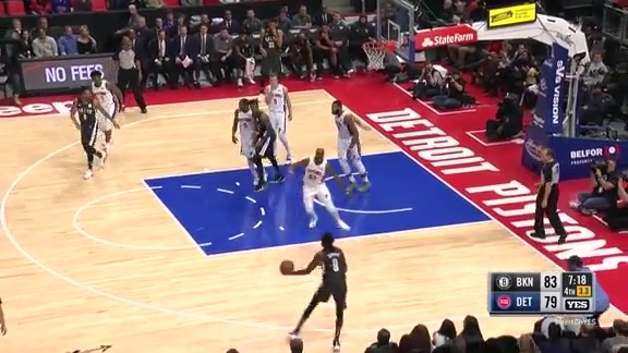 Highlights: Hollis-Jefferson (21 points) vs. Pistons