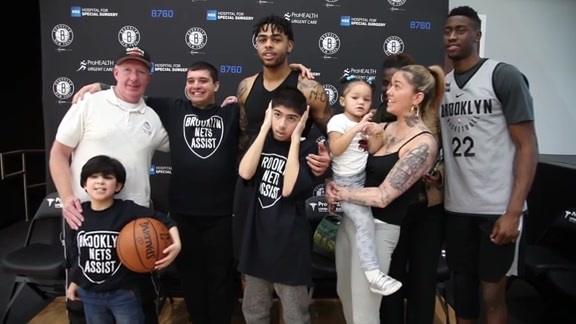 Play4Autism makes a special visit to Nets practice
