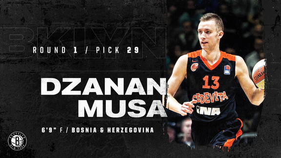 Watch: DZanan Musa selected by Brooklyn Nets with 29th pick
