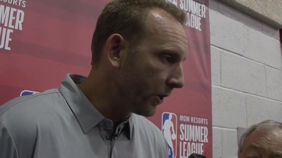 Sean Marks at Summer League